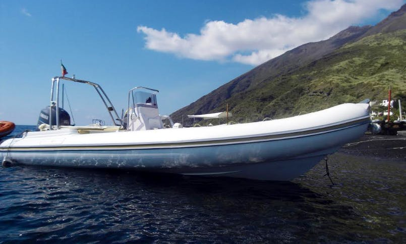 Charter 23' Nadir Rigid Inflatable Boat in Stromboli (Eolie islands), Italy