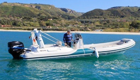 Charter 24' Marco Rigid Inflatable Boat In Tropea, Italy