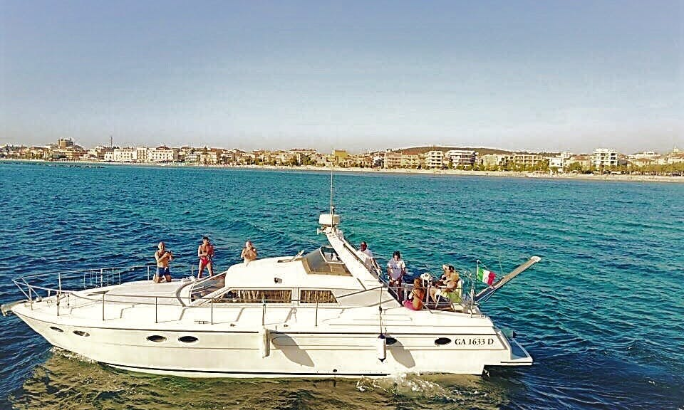 Captained 50 ft Motor Yacht Charter for 10 People in Alghero, Italy