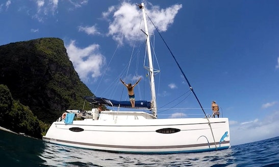 Catamaran Lucia 40' Rental In Le Marin