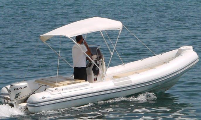 Rent 19' Alta Marea Inflatable Boat in Marciana Marina, Italy