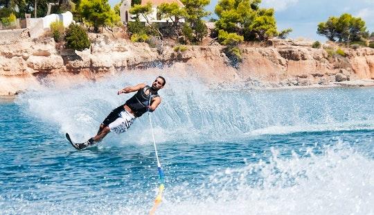 Enjoy Water Skiing In Nisi, Greece