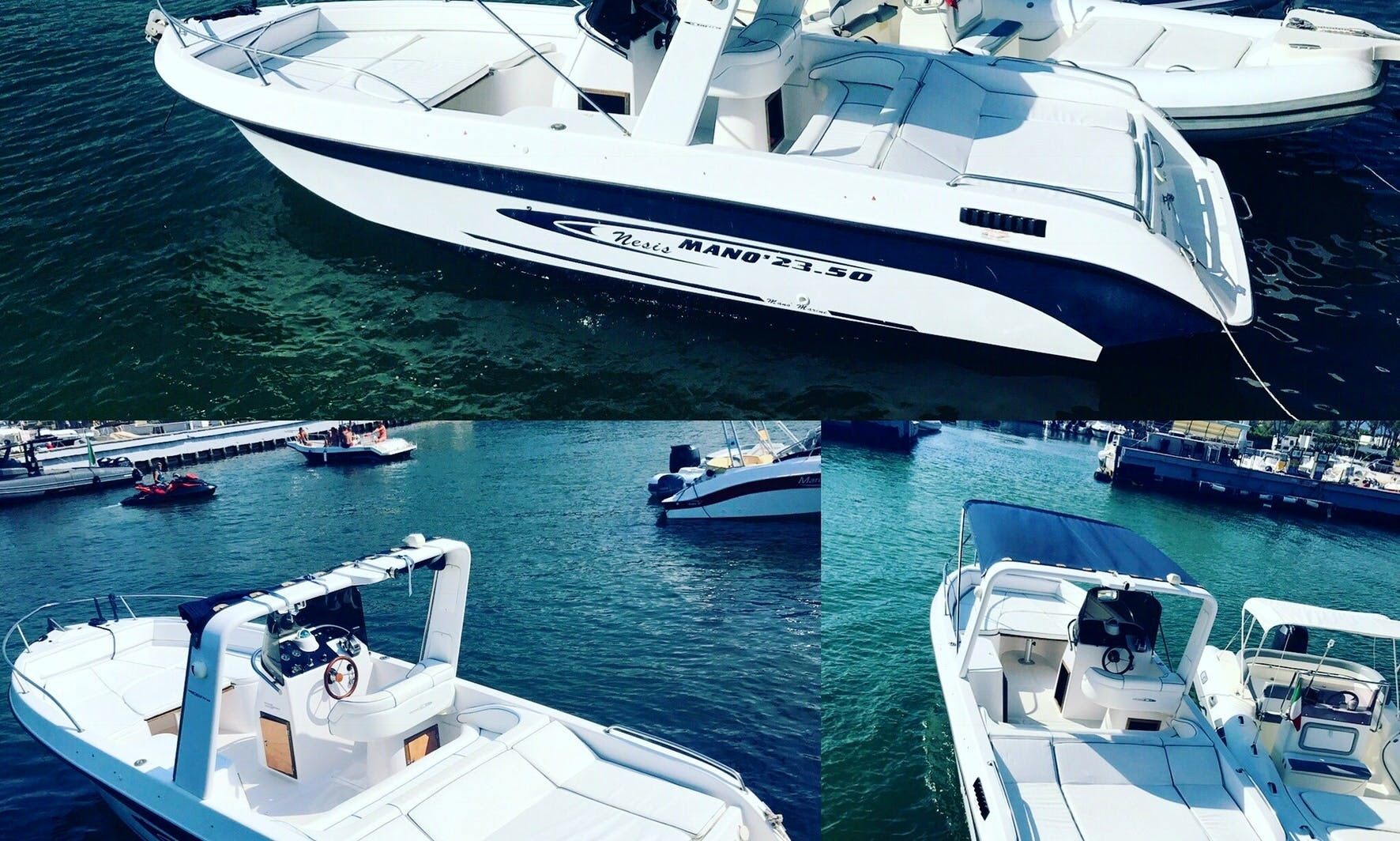 Powerboat in Cinquale - hire a captain or you can skipper around Italy's coast