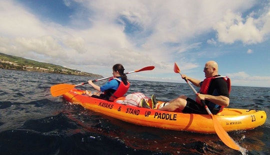 Enjoy Double Kayak Rentals And Tours In Vila Franca Do Campo, Portugal