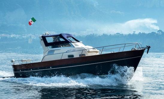 From Positano Campania, Charter Our Gozzo Jeranto 750 Classic