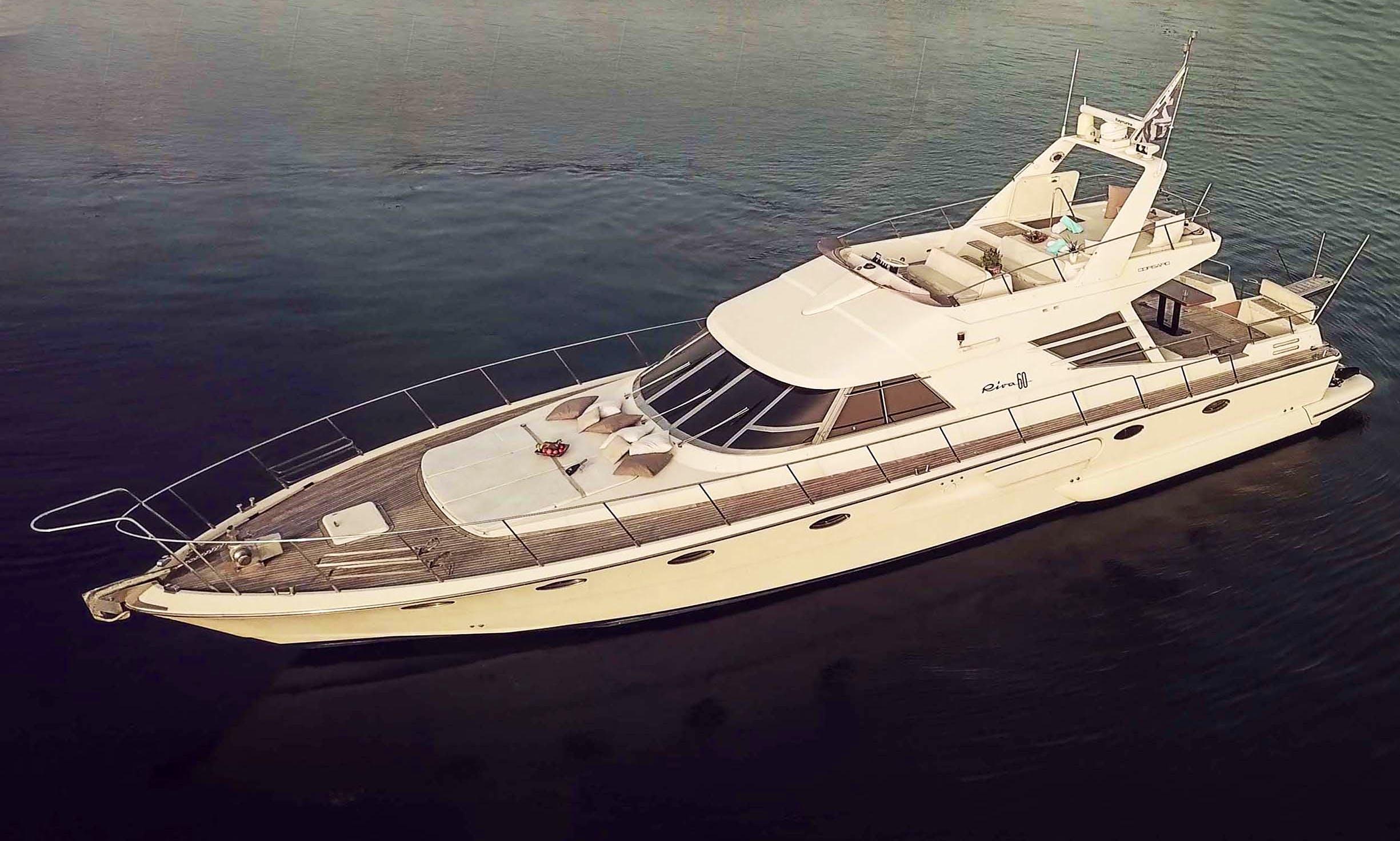 Riva 60 Yacht Charter in Ornos, Greece