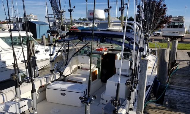 Fishing Time In Michigan Aboard The 27' Tiara Open Yacht With Captain Phil