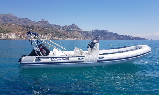 Enjoy Rigid Inflatable Boat In Giardini Naxos, Italy
