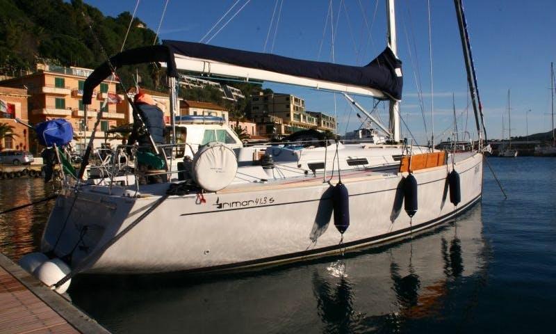Sophisticated and sleek! Charter our 42ft Rimar 41.3 in Torri del Benaco