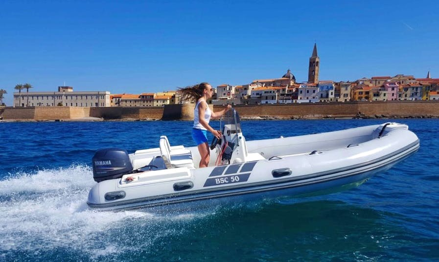 Rent BSC 50 Rigid Inflatable Boat in Alghero, Italy