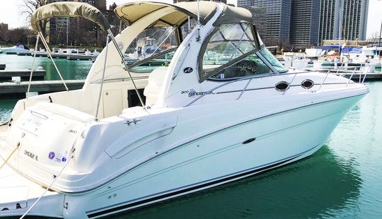 33' Captained Yacht Charter In Chicago Aboard Seavibes!