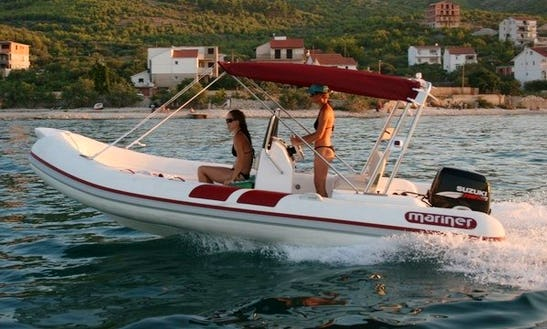 Charter 18' Mariner 560 Rigid Inflatable Boat In Betina, Croatia