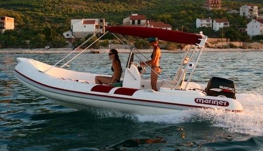Charter 18' Mariner 560 Rigid Inflatable Boat In Betina, Croatia