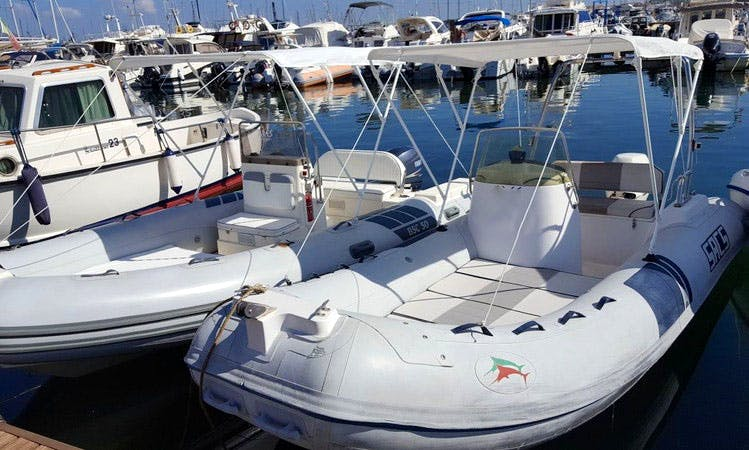 Rent SACS Rigid Inflatable Boat in Alghero, Italy