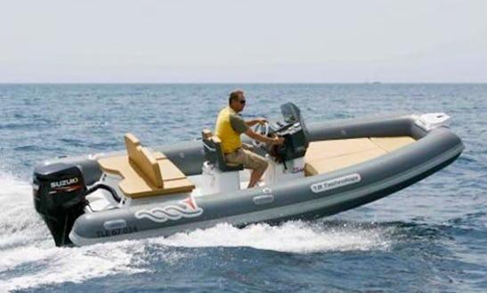 Charter 18' Mv Marine 18 Tech-115 Cv Rigid Inflatable Boat In Salerno, Italy