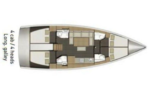 Charter Dufour 460 Grand Large - Vigoroso Cruising Monohull in Rogoznica, Croatia