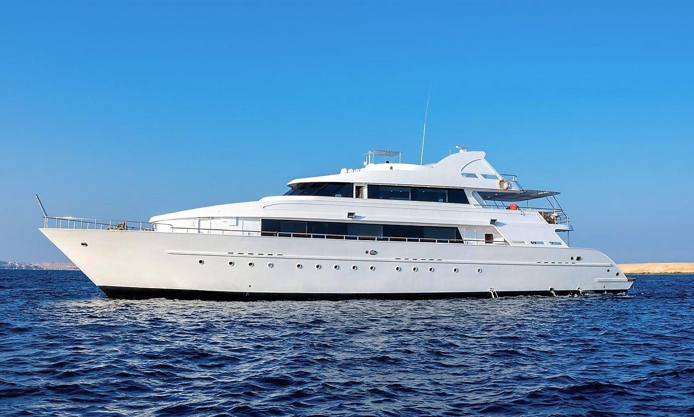 Charter 121' MY Lucy Power Mega Yacht in Red Sea Governorate, Egypt