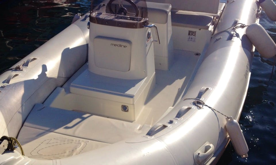 19ft RIB Rental for Up to 6 People in Herceg Novi, Montenegro