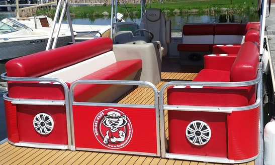 Rent 24' Badger Pontoon With A Captain In Madison, Wisconsin