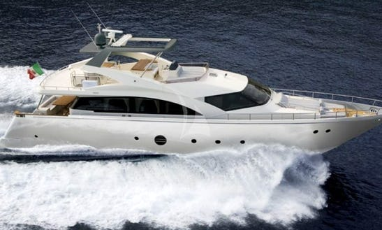 Charter 76' Ulisse Aicon Power Mega Yacht In Voula, Greece