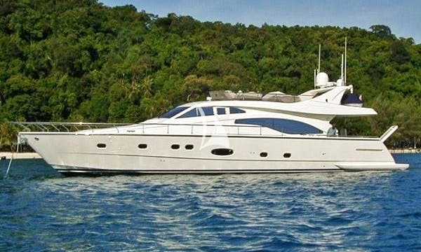 Charter 70' Alsium Ferretti Power Mega Yacht in Voula, Greece