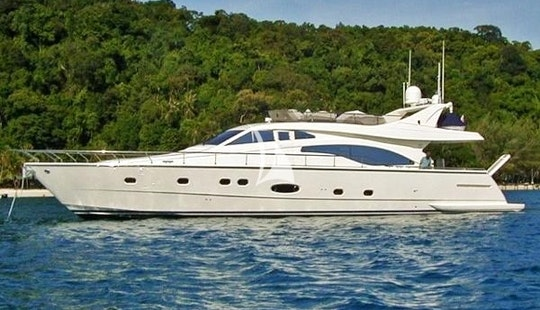 Charter 70' Alsium Ferretti Power Mega Yacht In Voula, Greece