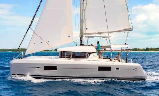 Charter 42' Lagoon Cruising Catamaran In Lefkada, Greece