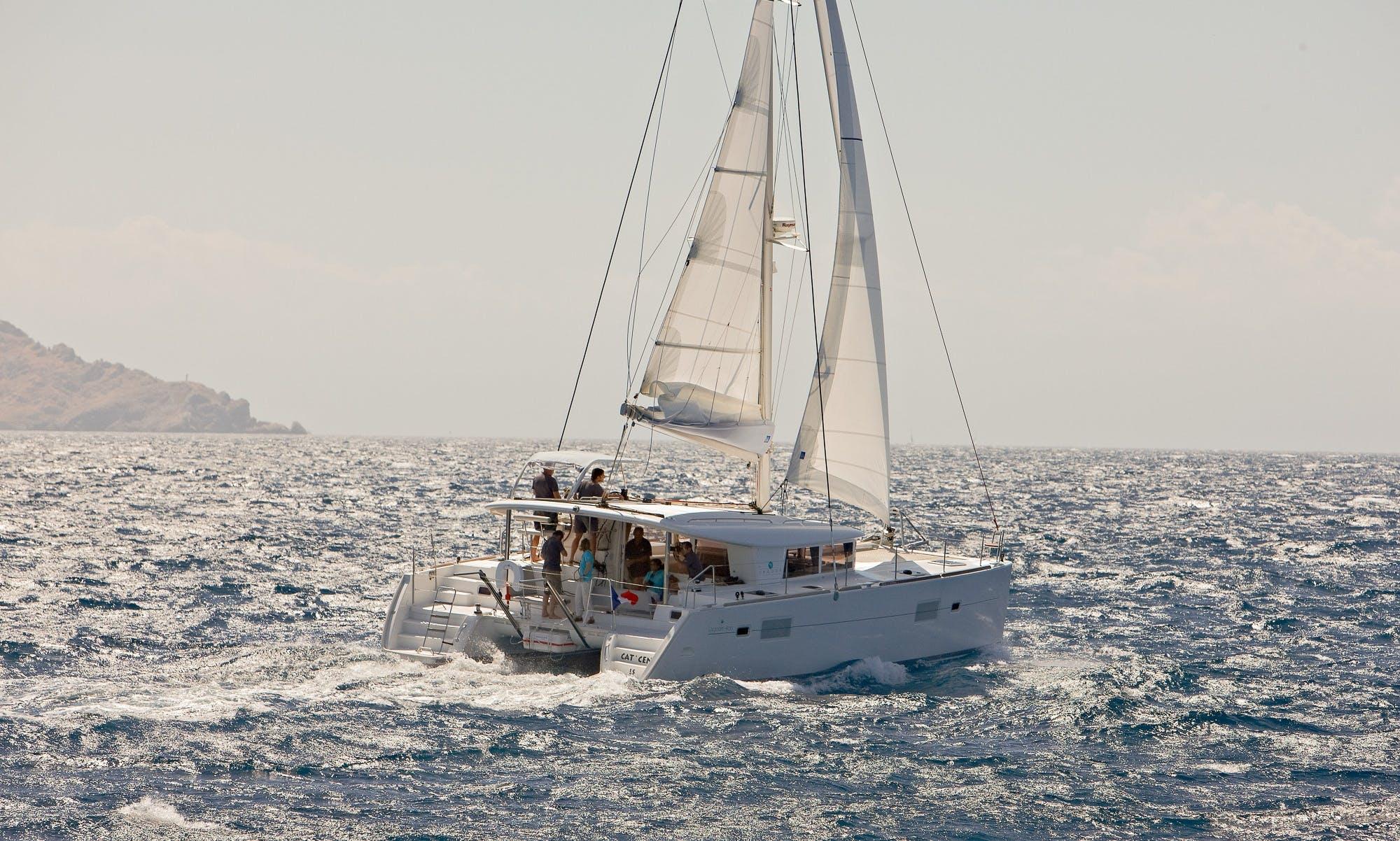 Charter 39' Penelope Lagoon Cruising Catamaran in Kontokali, Greece