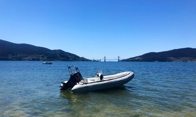 Charter 17' Rigid Infltable Boat in Vigo, Spain