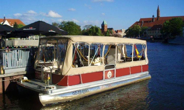 Passenger Boat rental in Wrocław - catering on boat