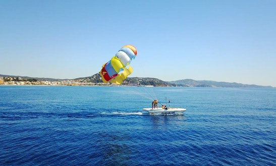 Enjoy Parasailing In Blanes, Spain