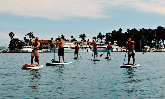 2 Hours Sup Tour With Light Lunch And Paddleboard Rental In Newport Beach, Ca