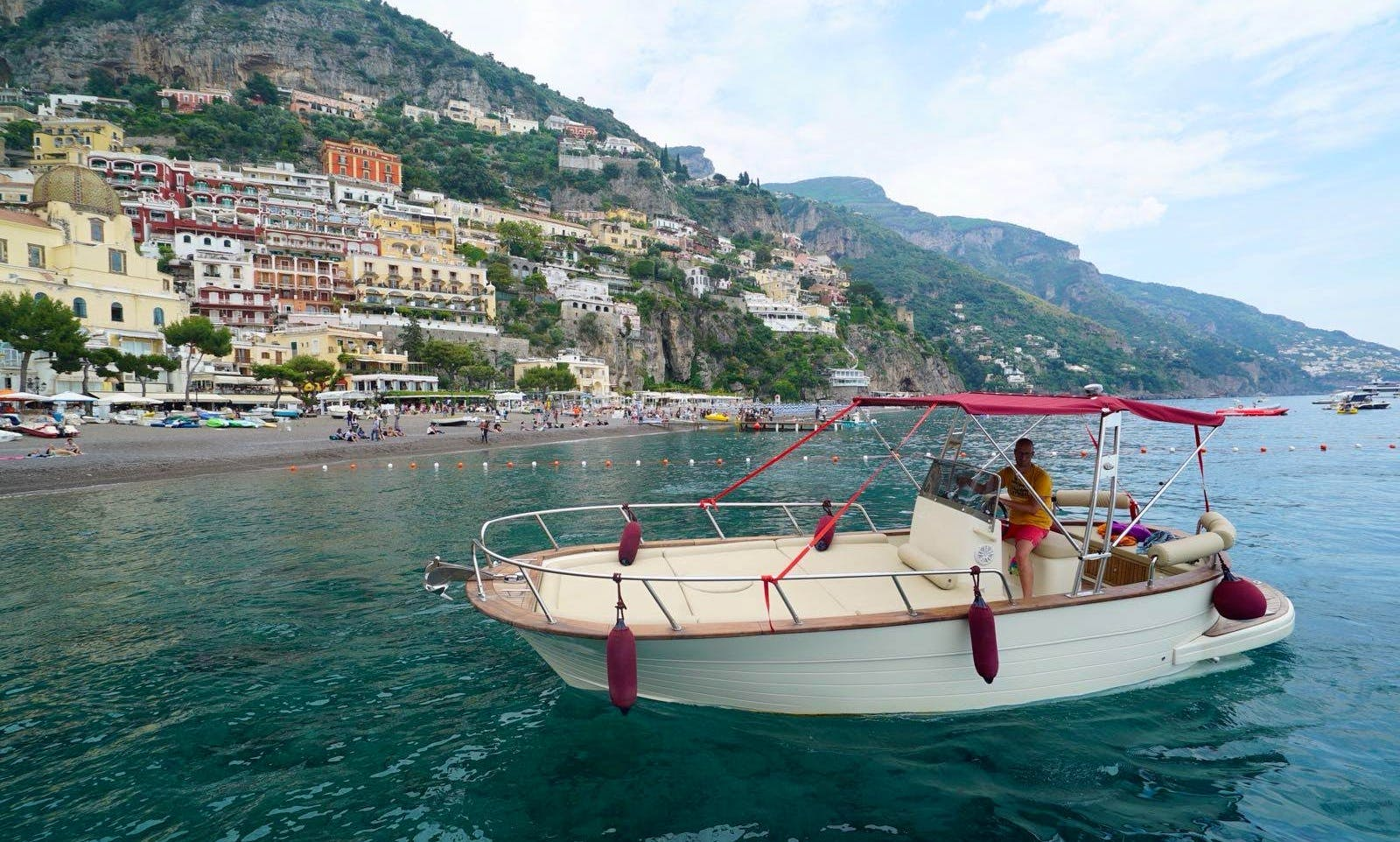 Full day tour along the Amalfi Coast with skipper and guide
