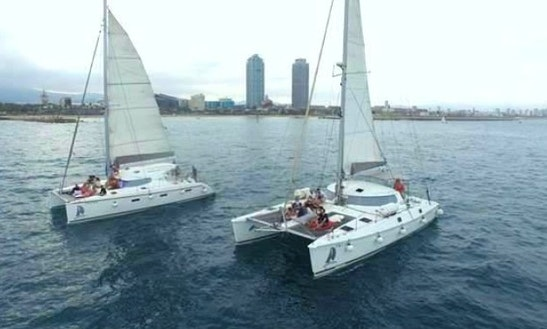 Sailing Catamaran For 28 Guests In Barcelona, Spain