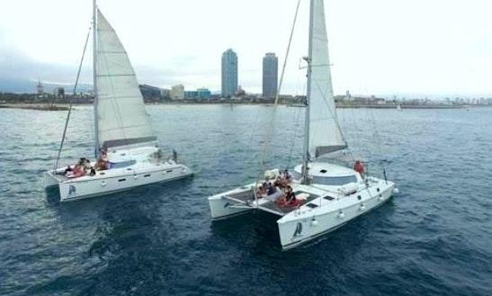 Sailing Catamaran For 28 Guests In Barcelona, Spain