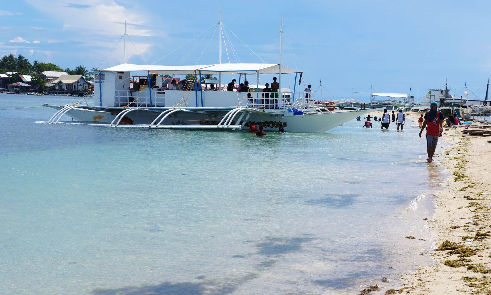 Traditional Passenger Boat Rental for Up to 30 People in Cordova, Philippines