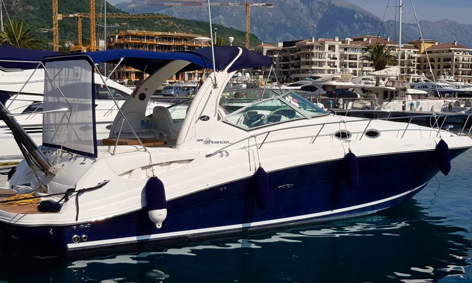 Rent motor yacht Sundancer 375 Sea Ray in Montenegro