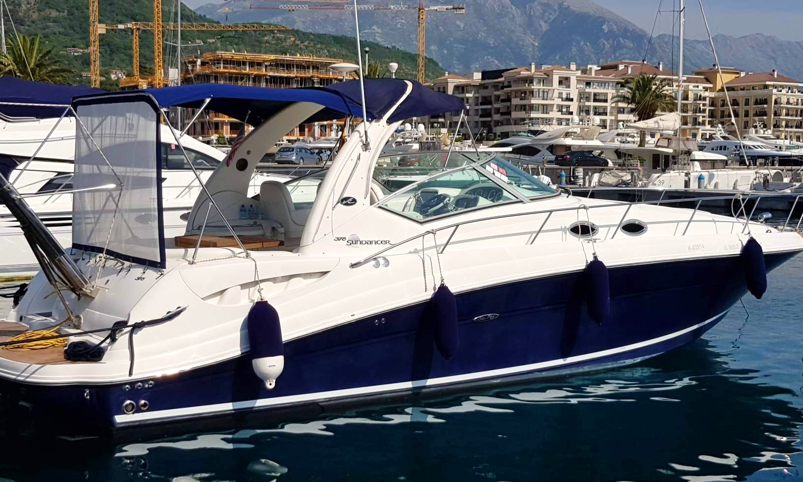 Rent motor yacht Sundancer 375 Sea Ray in Montenegro