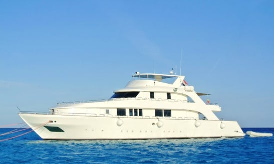Charter 117' My Aml Hayaty Power Mega Yacht In Red Sea Governorate, Egypt