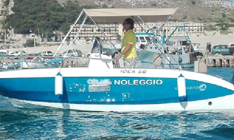 Rental boat in Leuca, Italy
