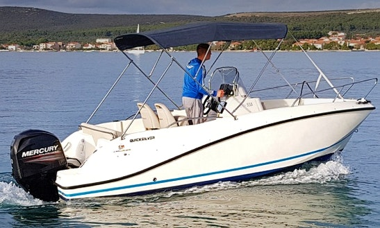 Rent 18' Quicksilver Active Center Console In Turanj, Croatia