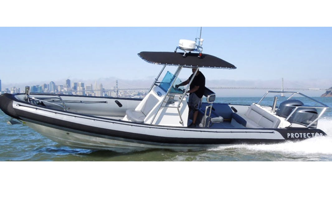 Protector RIB boat rental in San Francisco Bay Area, Richmond, Berkeley, Sausalito