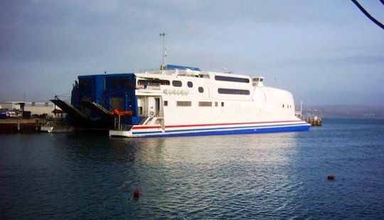 High-speed Boat Ferry Cruises In Poole, England
