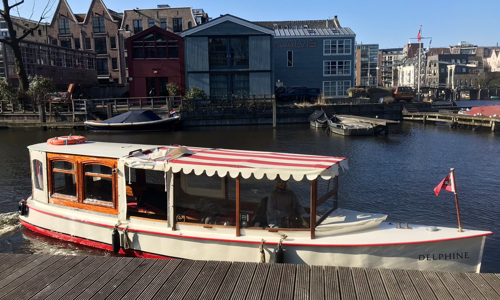 """Hire """"Delphine"""" Canal Boat In Amsterdam, Netherlands"""