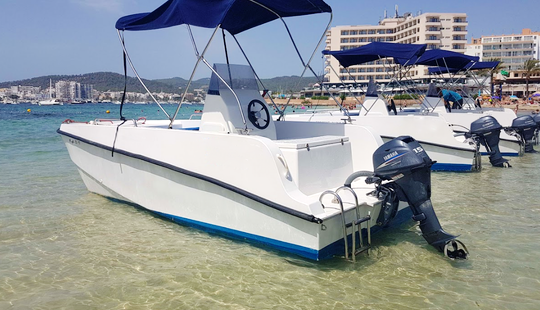 16' Power Catamaran Rental In Illes Balears, Spain