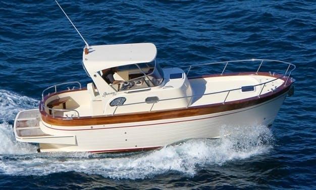 Explore Sorrento, Campania on 24' Sorrento 7.50 Motor Yacht