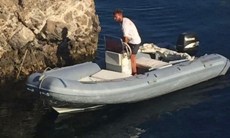 Rent a 16' RIB For The Day in Marettimo, Italy