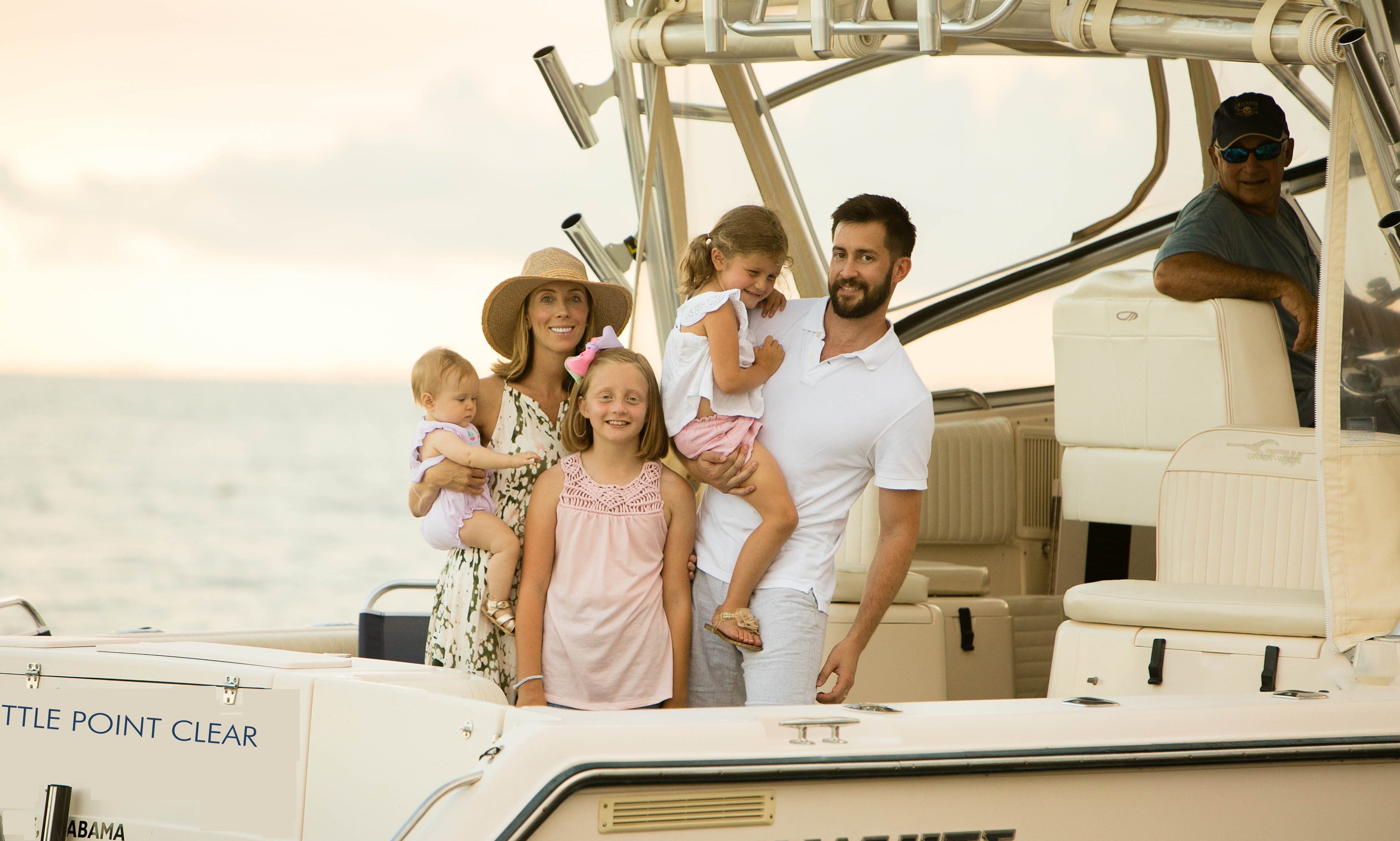 Enjoy a relaxing cruise or a fishing adventure in Fairhope, Alabama aboard a 33' Grady White Express