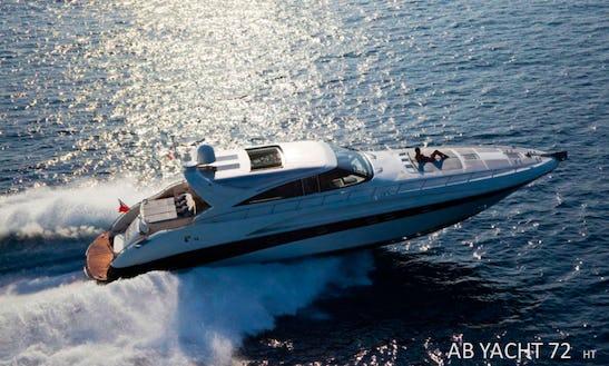 Experience The Luxury 72' Ab Ht Power Mega Yacht In Olbia, Italy