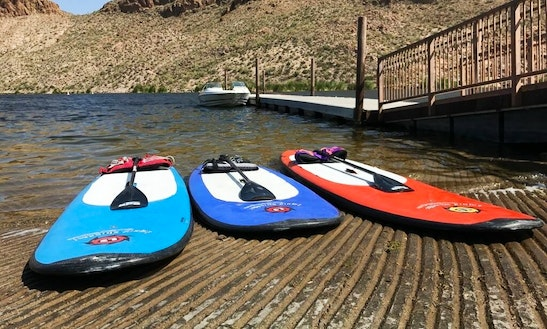 Stand Up Paddleboarding With Experienced Team On Mesa Lakes, Arizona